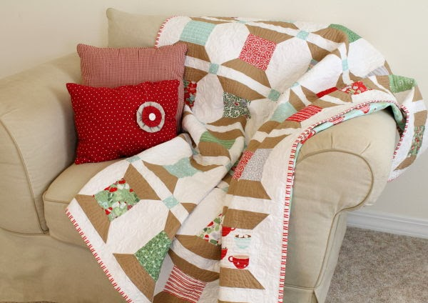 free pattern christmas spools quilt by trish